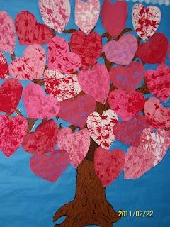 Valentine's Day Tree of Hearts.