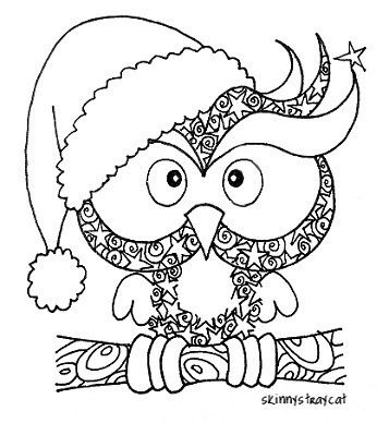 the christmas owl by skinnystraycat i was very curious and wanted to see this art work stated on the art work that this is a christmas owl im