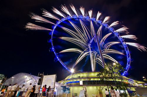 Singapore Flyer | Opening Fireworks 2008