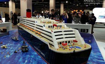 Giant Lego cruise ship