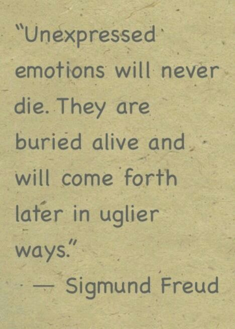 This is sòooooooooooo very true. #Suppressing #Emotions