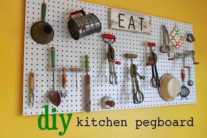 Pegboard kitchen mod kitchen pegboard ideas mod command for Kitchen pegboard ideas
