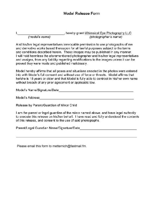 Contract Release Form Release Form Photography Pinterest