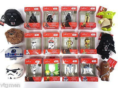 Star Wars Lot 19 Hallmark Keepsake Christmas Ornaments, Minifigures & Fluffballs