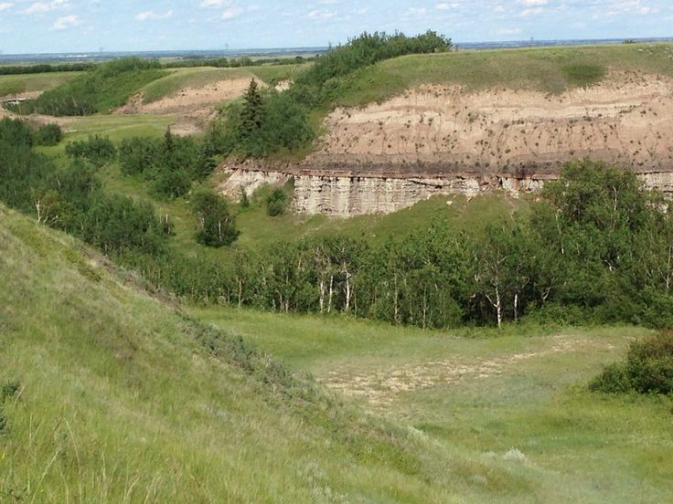Sandstone Cliffs, north of Castor.