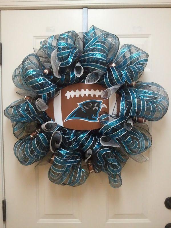 Carolina Panthers Wreath- Love this!