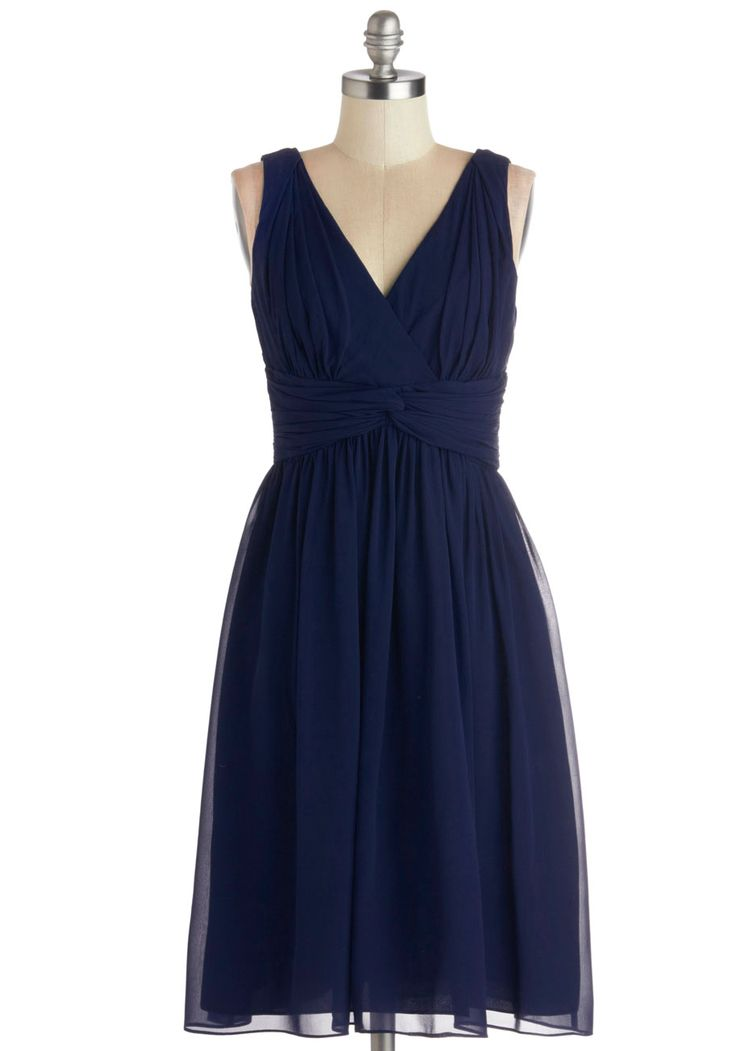 Glorious Guest Dress in Navy. From the moment you receive the invitation to your friends fte, you know youd be wearing this navy dress! #blue #wedding #bridesmaid #prom #modcloth