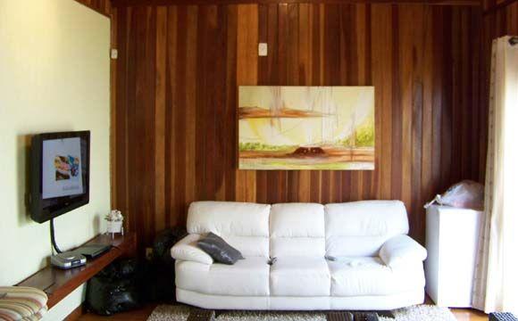 Paredes internas também são construídas em madeira