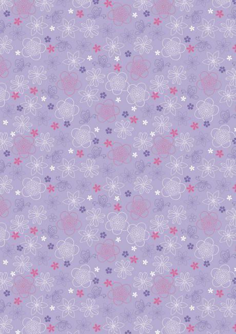 Purple flowers and butterflies scrapbook paper(cliquer au dessus de l'image pour ouvrir PDF)
