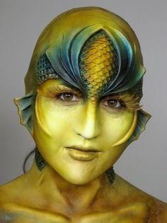 SFX makeup. Fantasy. Mermaid