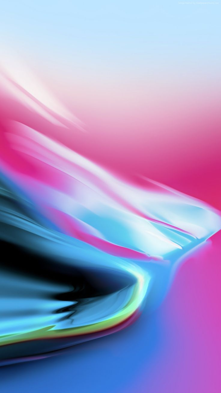iOS 11, pink, blue, Stock, abstract, apple, wallpaper