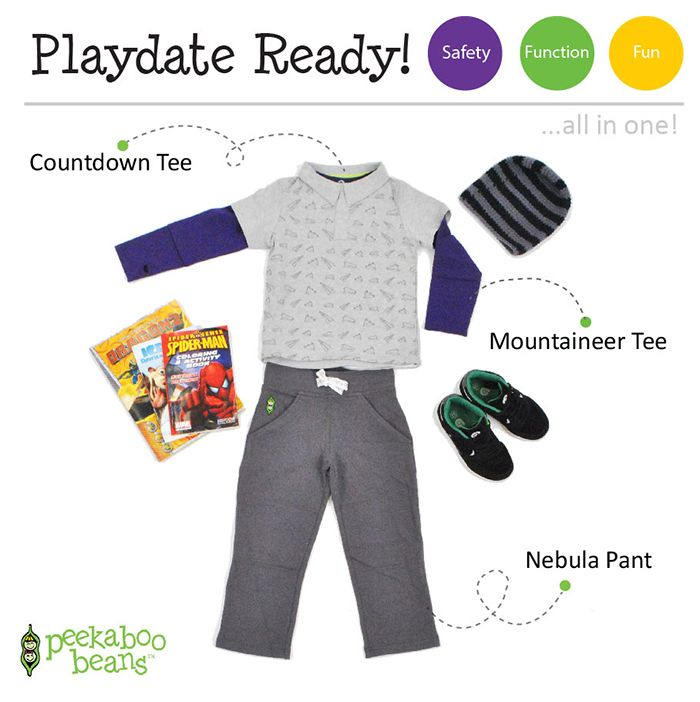 Layered Up Bean! | Peekaboo Beans - playwear for kids on the grow! | Contact your local Play Stylist or shop On-Vine at www.peekaboobeans.com | #PBPlayfulPairings