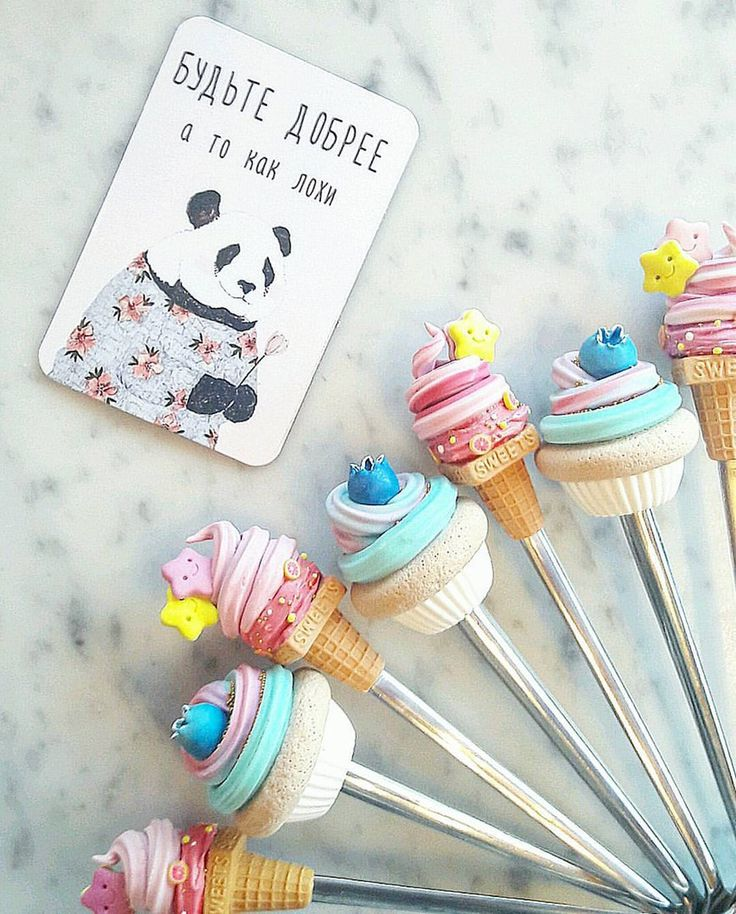 Sweet spoons made with polymer clay! Welcome to my Instagram  -  victoria_gordi_handmade. I'm glad to see you! #sweetspoon #polymerclay #handmade