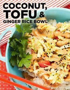 We cant put down ou We cant put down our chopsticks with this...  We cant put down ou We cant put down our chopsticks with this tasty number - with a delectable ginger peanut sauce this Coconut Rice Bowl with Ginger and Tofu Slaw makes for a mouthwatering meal. #BiteMeMore #recipes Recipe : http://ift.tt/1hGiZgA And @ItsNutella  http://ift.tt/2v8iUYW