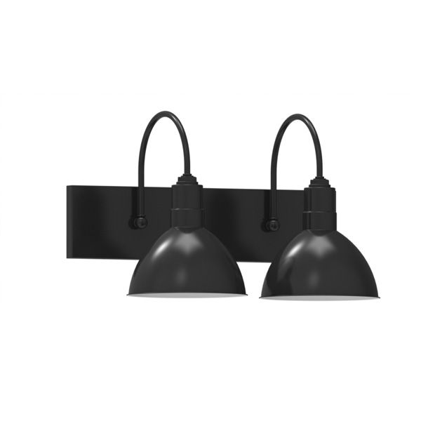 wesco 2 light wall sconce vanity lighting barn light. Black Bedroom Furniture Sets. Home Design Ideas