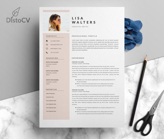 Professional Resume Template For Pages Cv Template Simple Resume Design Instant Download Resume Professional Cv Template Photo Resume Modele De Cv Design Idee Cv Resume