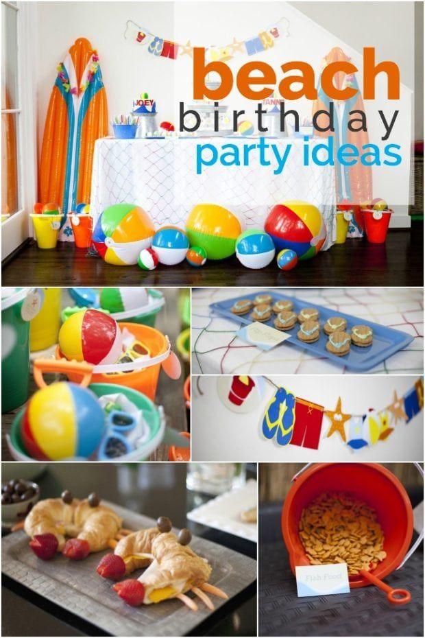 A Boy S Beach Birthday Party Beach Birthday Party Beach Theme