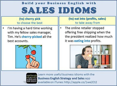 Improve your Business English with these sales idioms!