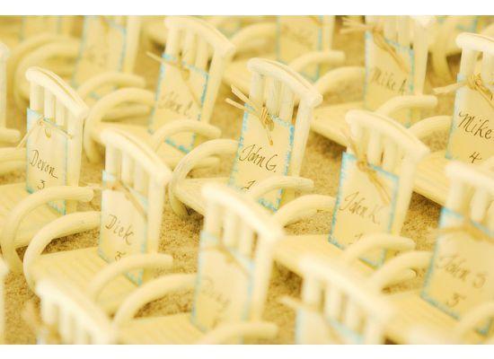 Beach Chairs Escort Cards