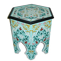 @Overstock - Bring a hint of exotic North African decor to your home with the rich colors and handcrafted quality of this handpainted Moroccan Wooden Screen. Handcrafted by skilled artisans in Morocco.http://www.overstock.com/Worldstock-Fair-Trade/Handpainted-Arabesque-II-Wooden-End-Table-Morocco/7029411/product.html?CID=214117 $219.99