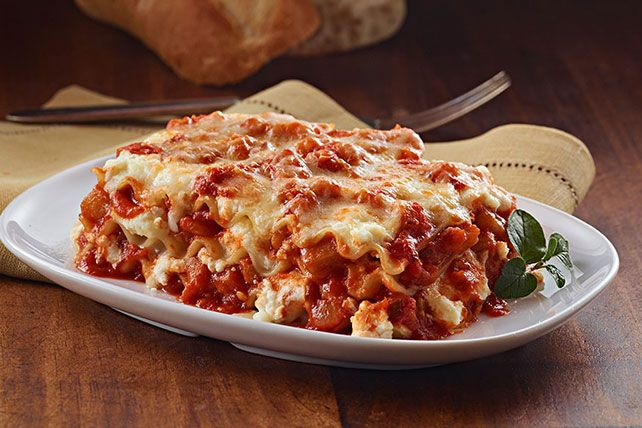 Layer on the delicious flavors with our Eggplant Lasagna recipe! Garlic, cheese, pasta sauce and veggies star in this vegetarian Eggplant Lasagna recipe.