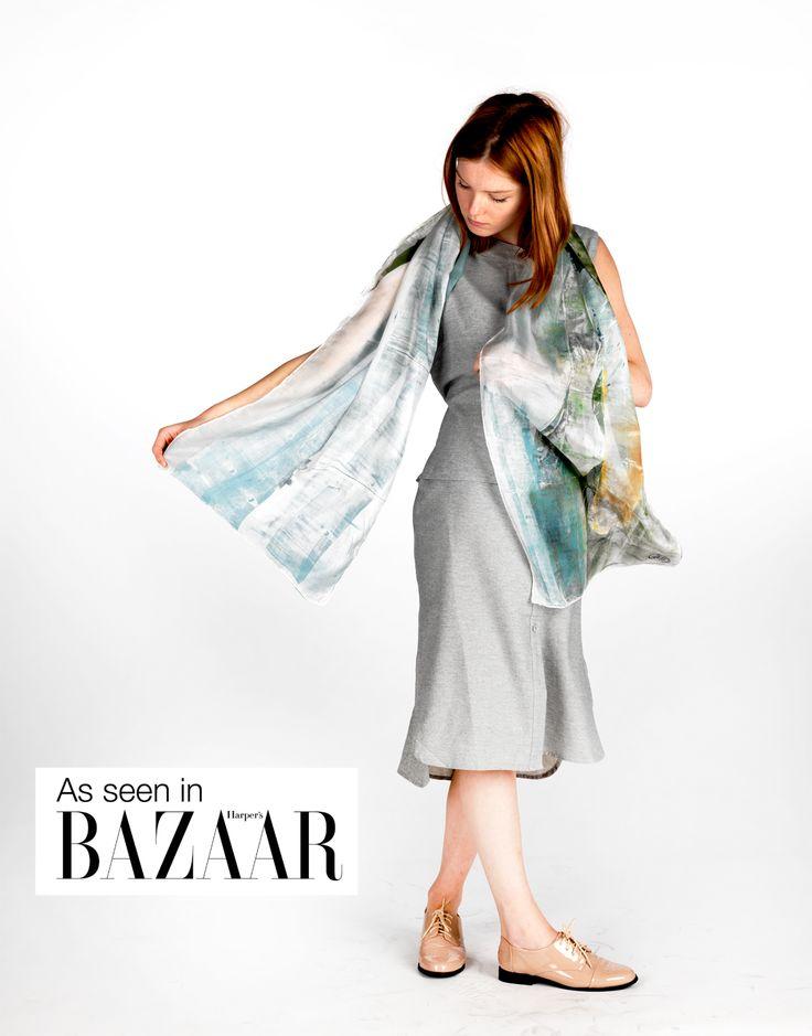 Daubs & Dashes: Malmey silk scarf - Iceland Collection A/W 16