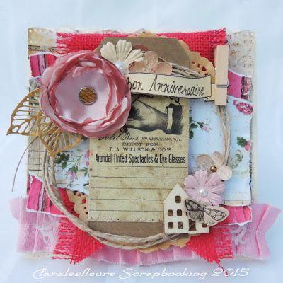 Claralesfleurs Scrapbooking 2015 - Carte féminine avec collection Romance Novel de Marion Smith