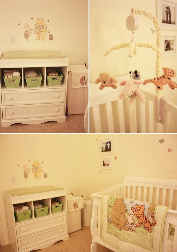 I Am Excited To Be Featuring Our Real Nursery Today Pamela Mama Lilly Jade Sent This Darling Clic Winnie The Pooh Us We Love