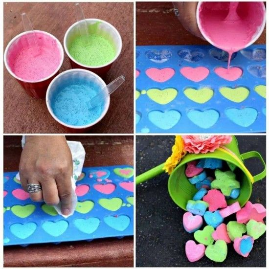 Teach the little ones how to make sidewalk chalk, and spend the afternoon creating works of art on the driveway! #diy