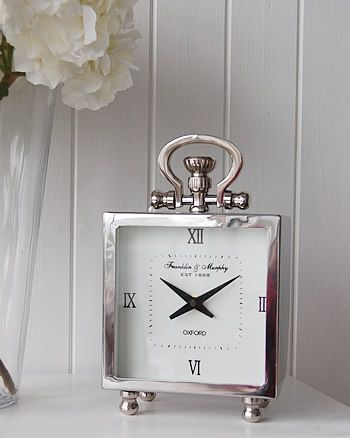 Polished Silver Chrome mantel clock  Ideas and designs in furniture and  accessories for decorating your. Best 25  Hallway furniture ideas on Pinterest   Neutral hallway