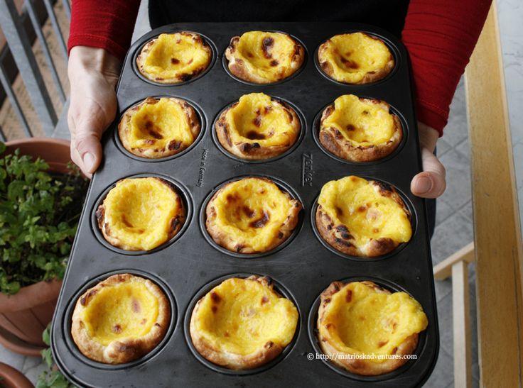tortine alla crema - ricetta tradizionale portoghese