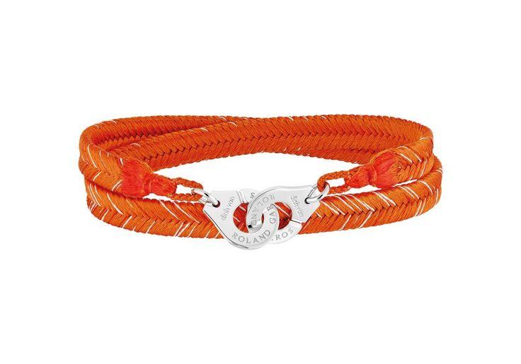 Bracelet menottes Dinh Van pour Roland Garros couleur terre battue #dinhvan #rolandgarros #peah #bracelet #menottes