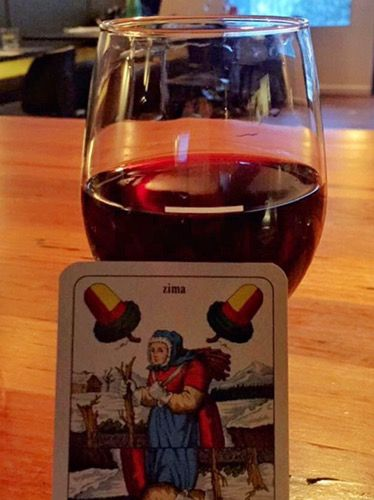 Wine and a crazy Czech card game at Elks at Falls Creek.