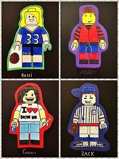 What a great idea - certain classes/kids would LOVE this - Mr. Leban's Art Classroom: LEGO Mini-Figure Avatars