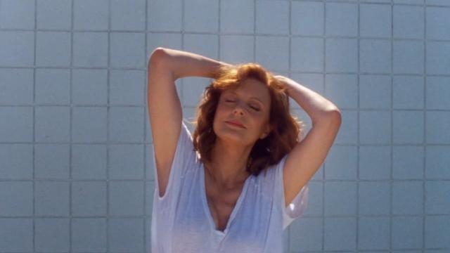 Susan Sarandon, 70, promotes septuagenarian sex appeal in Justice's 'Fire' video.