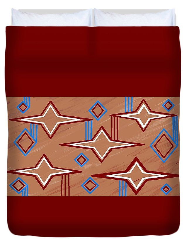 Queen Size  Duvet Covers of 'Navajo 10' by Sumi e Master Linda Velasquez.