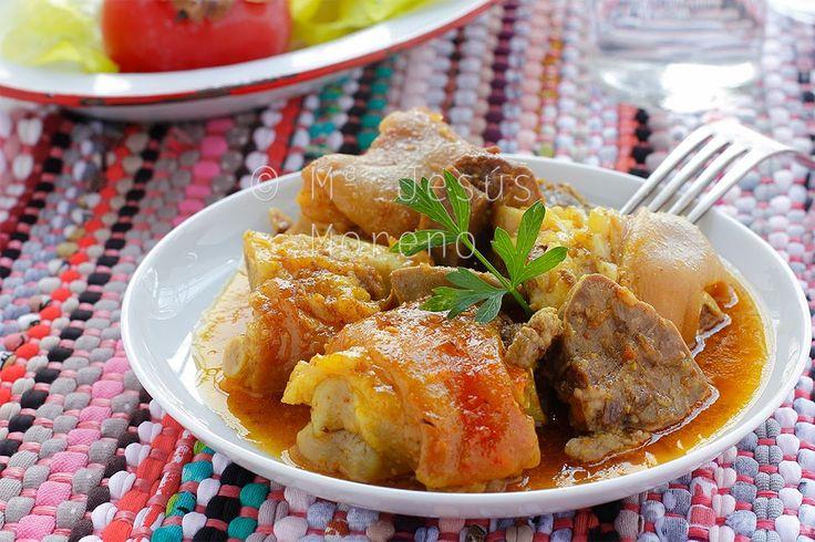 Fotografía y gastronomía: Manitas de cerdo con Lengua