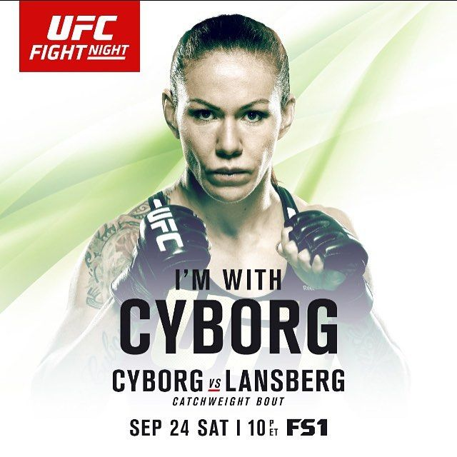 Are you on #teamcyborg for the @UFC fights this weekend on@fs1?  Share this pic and use the tag #UfcBrasilia for a chance to win an autographed Cris Cyborg photo! 🇧🇷🇧🇷🇧🇷🇧🇷 Você está com o #teamcyborg para o @UFC neste fim de semana no @canalcombateoficial  Compartilhe essa foto e use o hashtag #UfcBrasilia para uma chance de ganhar uma foto autografada Minga!