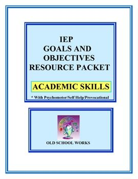 Tired of rewritng IEP goals and objectives? Looking for a bank of possible IEP content? This resource contains 130 possible combinations of goals and objectives. Keep a copy at home and one at school. This resource is suitable for regular and Special Education teachers. Best Seller at Old School Works, come check out contents and preview and complete product description.