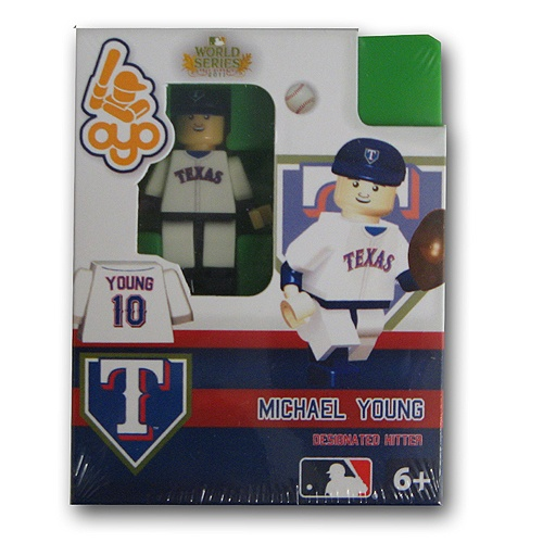 Texas Rangers 2011 World Series Michael Young Collectible Mini Figure
