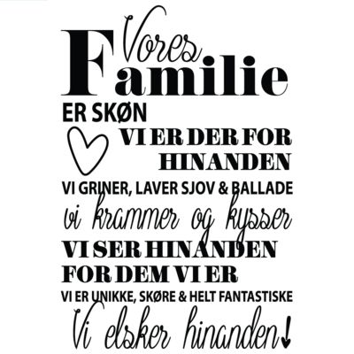 Vores familie