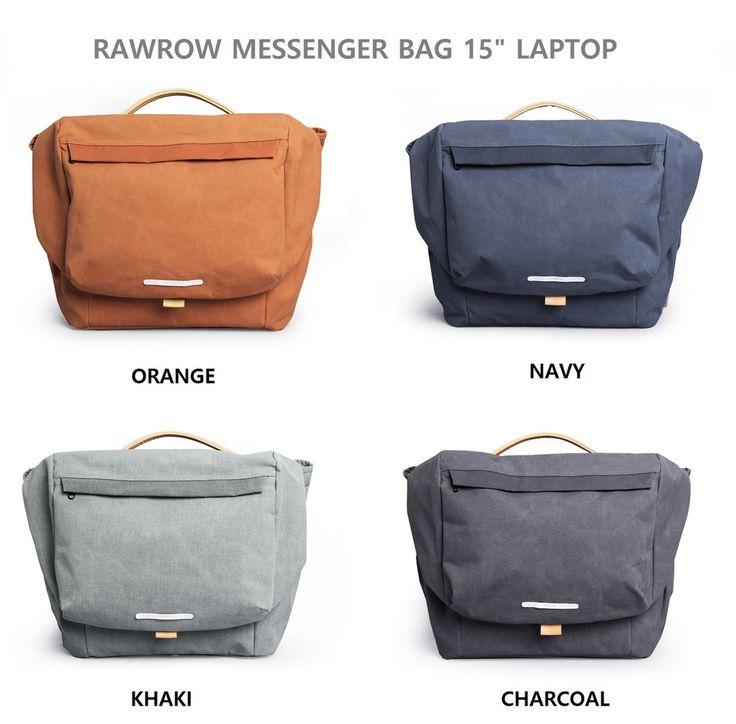 """RAWROW 500 Men Messenger Bag Crossbody Bag Tote Bag 15"""" Laptop Bag Notebook Bag #RAWROW #CrossbodyBagLaptopBagMessengerBag"""