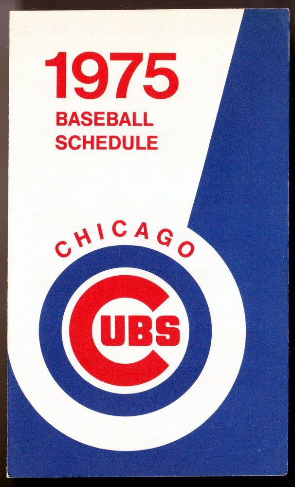 1975 CHICAGO CUBS OLD STYLE BEER 3 X 5 INCH BASEBALL SCHEDULE FREE SHIPPING