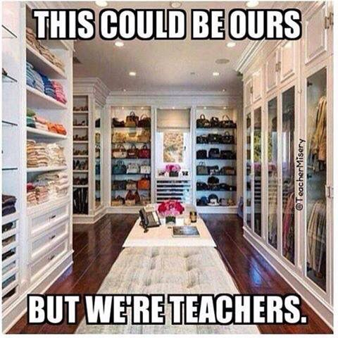 One day I'll be a teacher and I'll never have this and you know what it's ok!