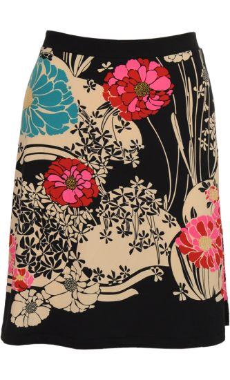 Vintage Inspired Autumn | ❀ | Borderskirt Hanami - Flower Pattern | ❀ | King Louie AW14