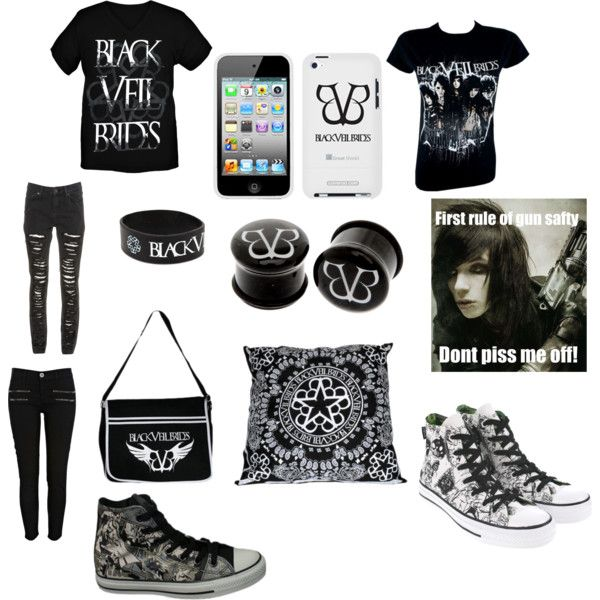 """black veil brides fan concert outfit"" by the-fish-out-of-water1 on Polyvore"