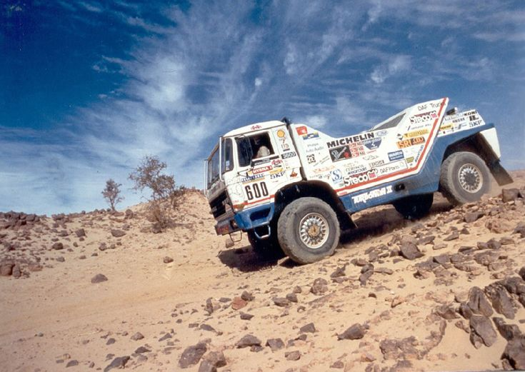 DAF used one of these crazy trucks to win the Paris-Dakar Rally in 1987.