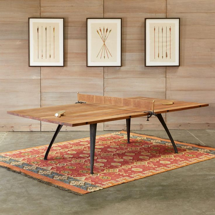 CLASSIC PING PONG TABLE--This stunning work of art is so beautiful, it can, and should, be used as often as possible as a game, dining or meeting table. Handcrafted with a reclaimed hardwood top salvaged from colonial buildings in Saigon