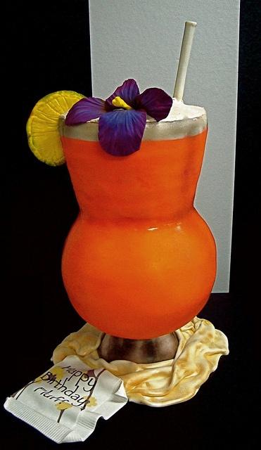 Tropical Cocktail Glass Cake www.islandcaribbeantravel.com