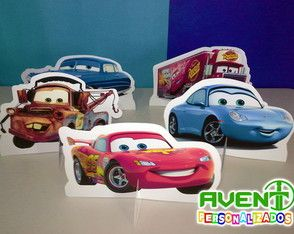 Display de Mesa Carros Mcqueen e Matte